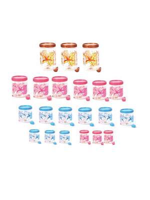 IntraPlasto Cozy Floral Multicolor Plastic Container set of 21