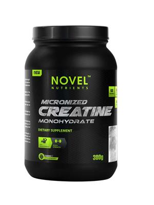 Novel Nutrients MICRONIZED CREATINE MONOHYDRATE Strawberry flavor 300 GM powder Muscle Booster