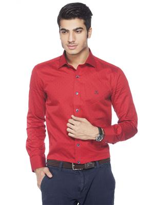 Crimsoune Club MA3585 Red Formal Shirt