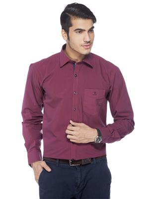 Crimsoune Club MA3692 Maroon Formal Shirt