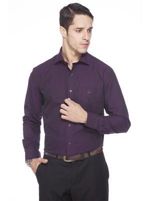 Crimsoune Club MA3693 Purple Formal Shirt
