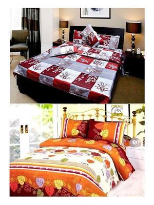 Sai Arpans D6-1187  Double Bedsheet  Combo (Set of 2)