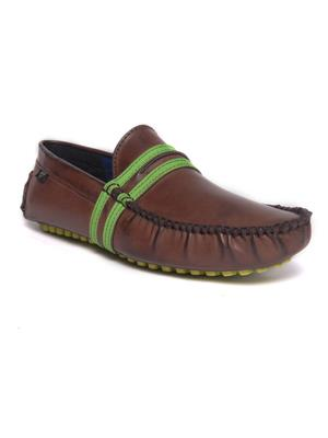 Wega Life FUSION Brown Green Mens Loafers