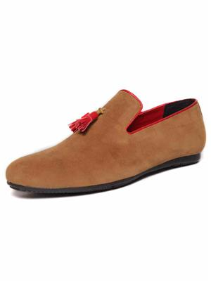 Da Mochi Damo1586 Tan Red Men Loafers