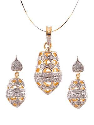 DEVVRAT JEWELS DEVGEM064 White Womens Jewellery Set