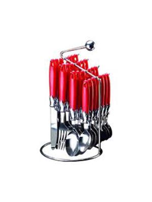 Pogo DGE04 Red Cutlery Set of 24 Pcs