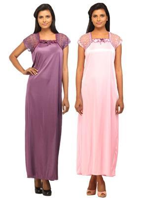 DesiHarem DH1112KM Multicolored Women Night Wear
