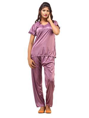 DesiHarem Sexy Purple 2 pc Nightwear