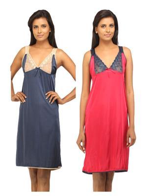DesiHarem DH1315KM Multicolored Women Night Wear