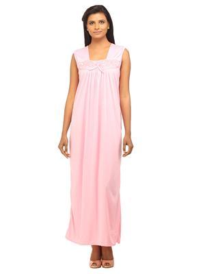 DesiHarem Cute Pink Long Robe Nightwear