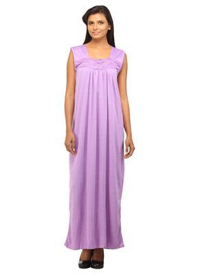 c832bbe393f DesiHarem Lavender Long Robe Nightwear