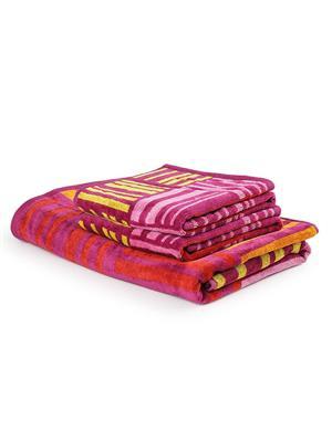 DETAK DK-1605 Broken Pink Check 1 BathTowel-2 Hand Towel