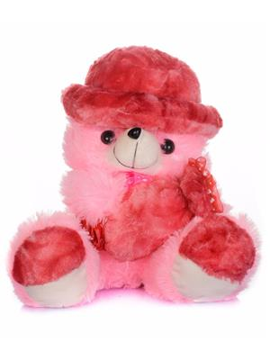 DETAK DKK-19 B-Pink Teddy with Holding Toffi with Adorable Cap