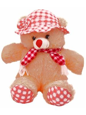 DETAK DKK-21-Brown Loveable Teddy with Cap & Holding Muffler