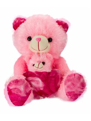 DETAK DKK-22-Pink Loveable Mother & Baby Teddybear