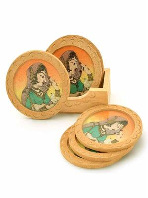 Kiran Udyog DLI4HCF111  Brown Coaster