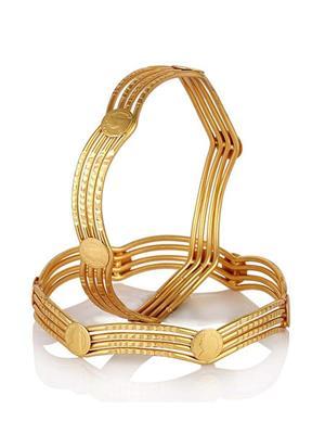 Awww Dm-Bs-617 Golden Women Bangles set of 2