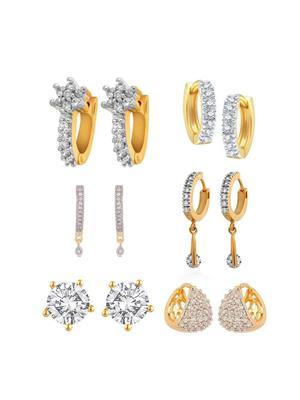 Awww Dm-C-Es-400 Golden Women Earrings Set Of 6