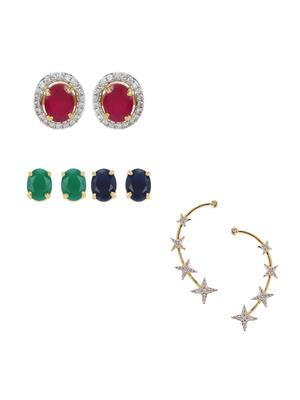 Awww Dm-C-E-705 Women Earrings With Earcuff Combo Pack