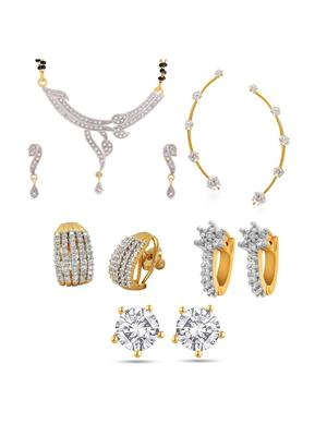 Awww DM-C-JS-703 Golden Women Jewellery Set Combo Pack