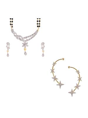 Awww DM-C-JS-726 Golden Women Jewellery Set Combo Pack