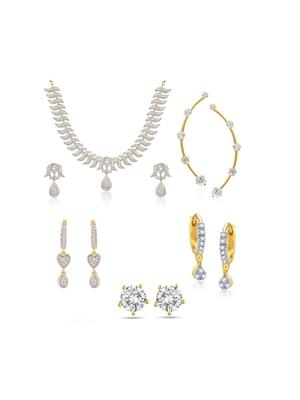 Awww DM-C-JS-742 Golden Women Jewellery Set Combo Pack