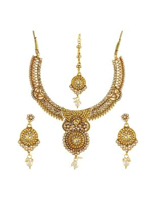 Awww DM-C-JS-752 Golden Women Jewellery Set Combo Pack