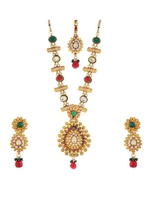 Awww DM-C-JS-757 Golden Women Jewellery Set Combo Pack