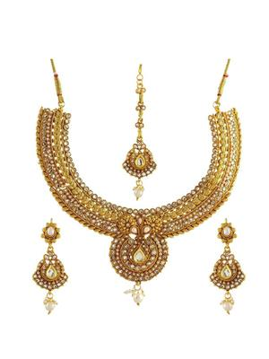 Awww DM-C-JS-758 Golden Women Jewellery Set Combo Pack