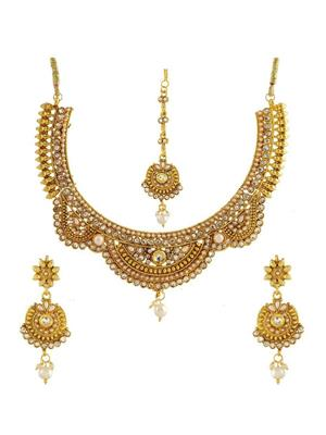 Awww DM-C-JS-760 Golden Women Jewellery Set Combo Pack