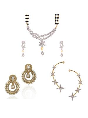 Awww DM-C-JS-761 Golden Women Jewellery Set Combo Pack