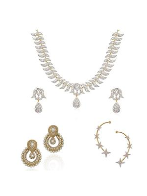Awww DM-C-JS-762 Golden Women Jewellery Set Combo Pack