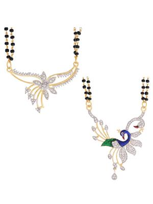 Awww DM-C-MS-345 Golden Women mangalsutra Combo Pack