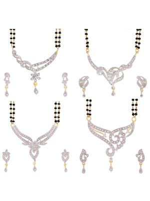Awww DM-C-MS-353 Golden Women mangalsutra Combo Pack