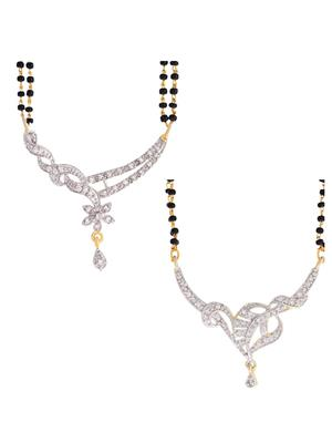 Awww DM-C-MS-361 Golden Women mangalsutra Combo Pack