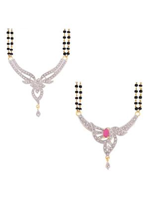 Awww DM-C-MS-385 Golden Women mangalsutra Combo Pack