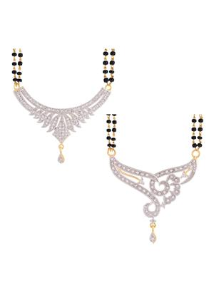Awww DM-C-MS-438 Golden Women mangalsutra Combo Pack