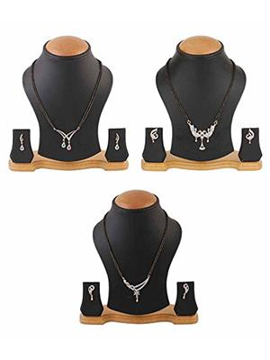 Awww Dm-C-Ms-702 Golden Women Pendant With Earrings Combo