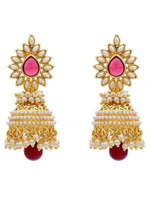 Awww Dm-E-597 Golden Jhumki Women Earrings