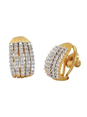 Awww Dm-E-74 Golden Stud Women Earrings