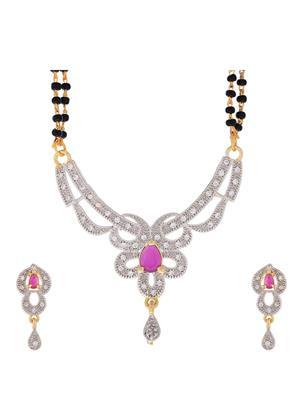 Awww DM-MS-245 Golden Women Mangalsutra with Earring