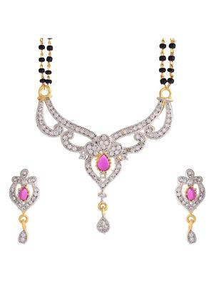 Awww DM-MS-274 Golden Women 1 Mangalsutra with 1 Earring