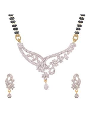Awww DM-MS-561 Golden Women Mangalsutra with Earring