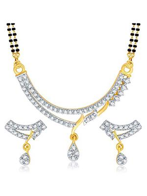 Awww DM-MS-618 Golden Women Mangalsutra with Earring