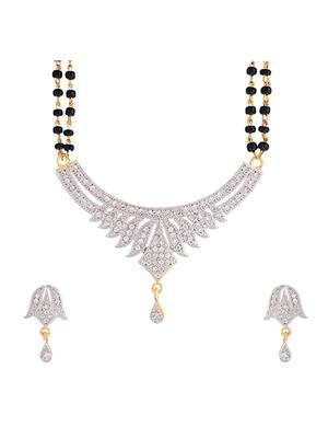 Awww DM-M-105 Golden Women Mangalsutra Set