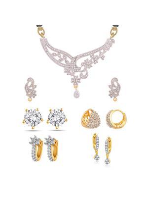 Awww DM-M-12 Golden Women Mangalsutra with Earring
