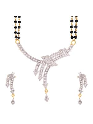 Awww DM-M-134 Golden Women Mangalsutra Set
