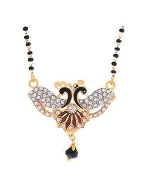 Awww DM-M-152 Golden Women Mangalsutra Set