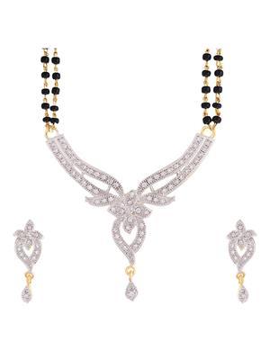 Awww DM-M-163 Golden Women Mangalsutra Set