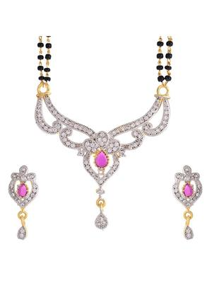 Awww DM-M-170 Golden Women Mangalsutra Set